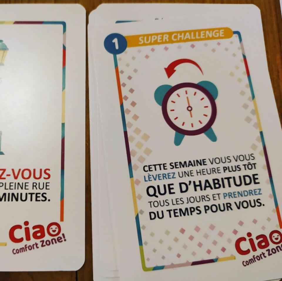 Ciao Confort Zone : Un jeu de développement personnel.