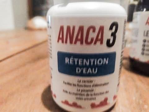 Zoom et avis suite à mon programme Anaca 3 rétention d'eau.