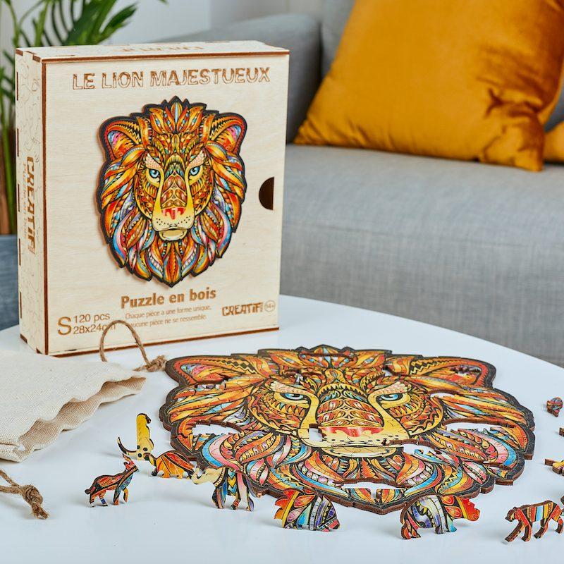 Zoom et avis sur les puzzles en bois de Puzzle Créatif.
