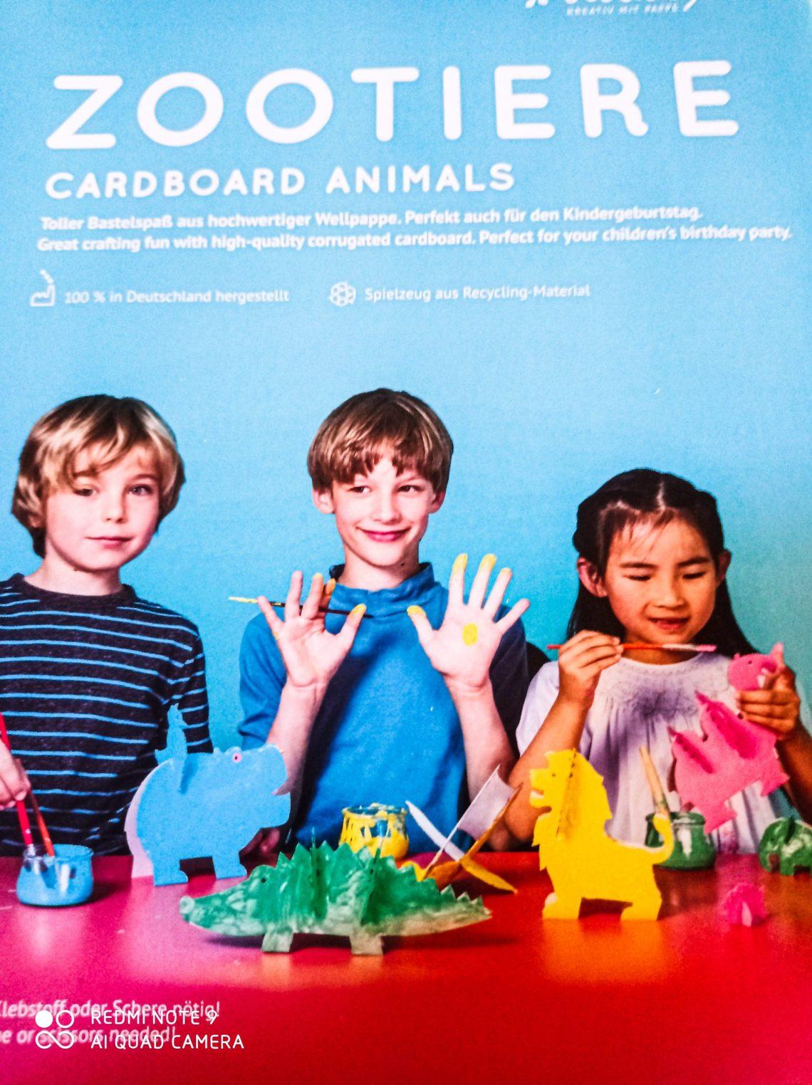 Zoom et avis sur notre Zoo en carton de chez Tout en Jouet.