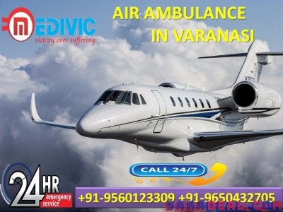 Take Quickest by Medivic Air Ambulance Service in Varanasi at Low Cost