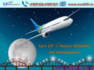 Critical Patient Transfer by Medilift Air Ambulance Service in Delhi