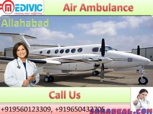 Affordable Air Ambulance by Medivic Aviation with Doctor in Allahabad