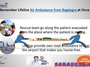 Lifeline Air Ambulance in Bagdogra Provide Efficient Care to Patient in Flight