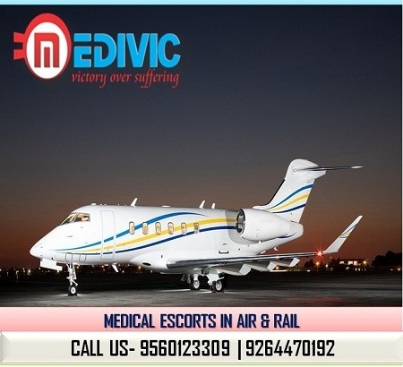 Select Prominent Emergency Care Air Ambulance in Bangalore by Medivic