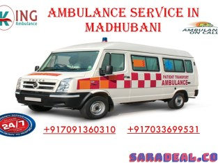 Book King Ambulance Service in Madhubani with Cost-Effective Price