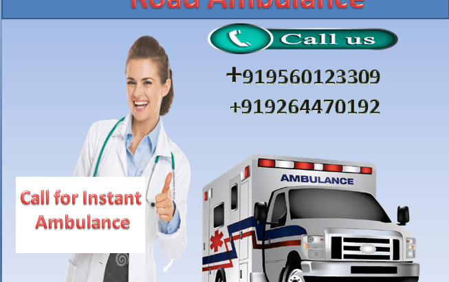 Always Get Medivic Life Saver Road Ambulance Service in Boring Road