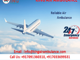 King Air Ambulance in Guwahati has the best Medical Facility