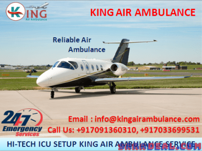 Air Ambulance in Patna has given all Medical Amenities by King
