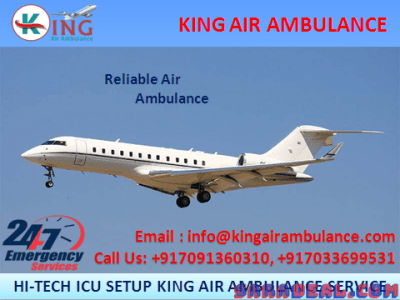 Pick Finest and Life Savior Air Ambulance in Kolkata by king