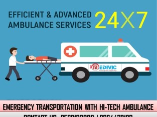 Use First Class Emergency Ambulance Service in Daud Nagar by Medivic