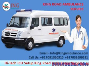 King Ambulance service in Buxar with medical facility