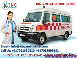 Hire King Life-Support Ambulance Service in Ranchi at Low Fare