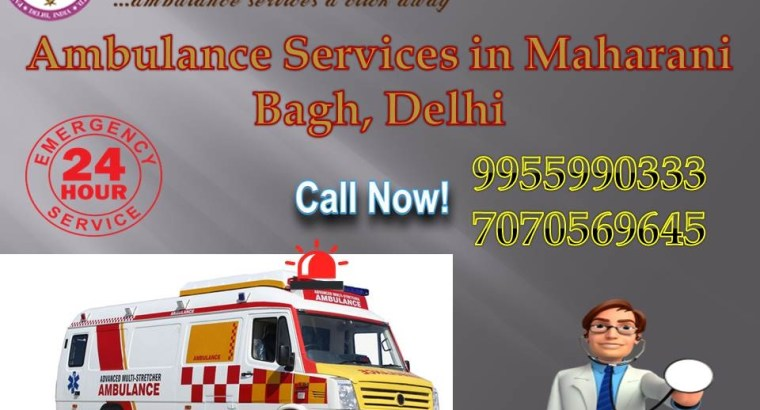 Inexpensive Ambulance Services in Maharani Bagh by Panchmukhi