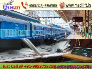 Medilift Train Ambulance in Patna – Get 24 Hours Services at Low Fare