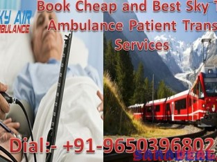 Get Emergency Train Ambulance from Patna to Delhi by Sky Ambulance