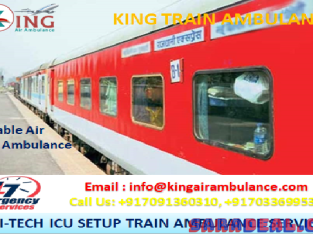Pick King Train Ambulance from Patna to Mumbai for Patient Relocation
