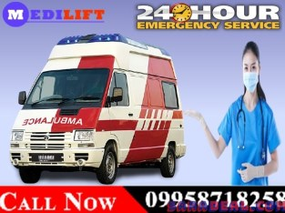 Use Medilift Complete ICU Setups Ambulance Service in Patna for Covid Patient