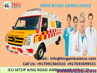 Choose ICU Ambulance Service in Saguna More Patna –King Ambulance