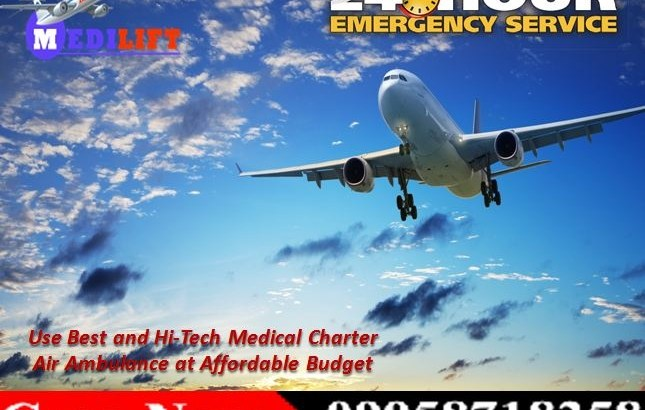 Use Medilift Charter Air Ambulance Service in Ranchi with Medical Team
