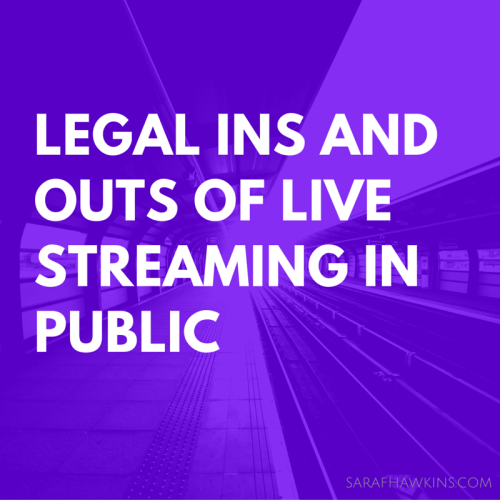 Legal livestreaming