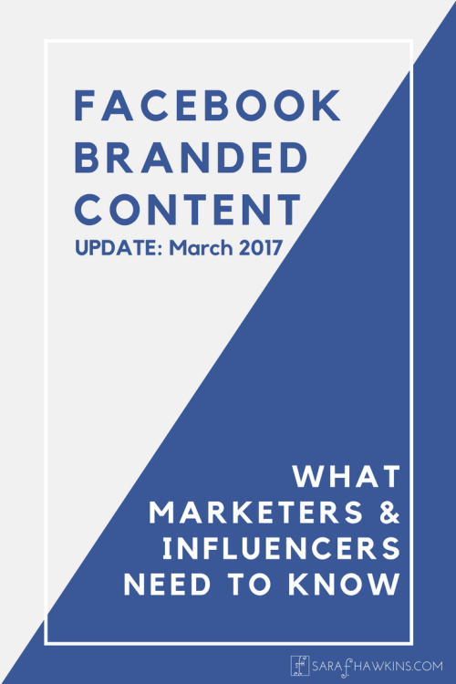 Facebook Branded Content Policy