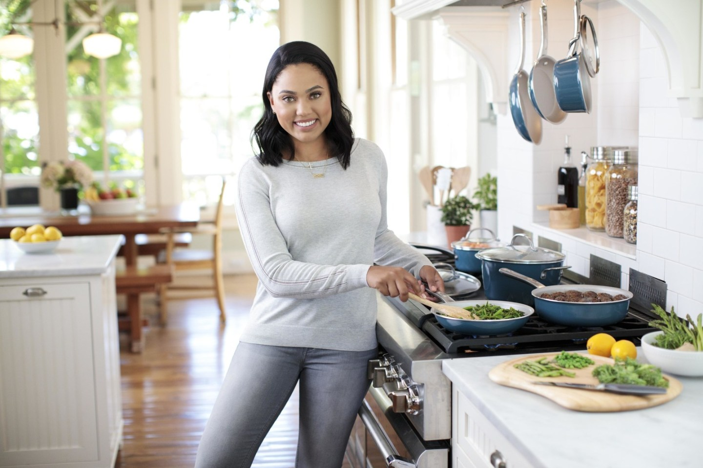 Meyer Ayesha Curry Kitchen Porcelain Enamel Blue Cookware