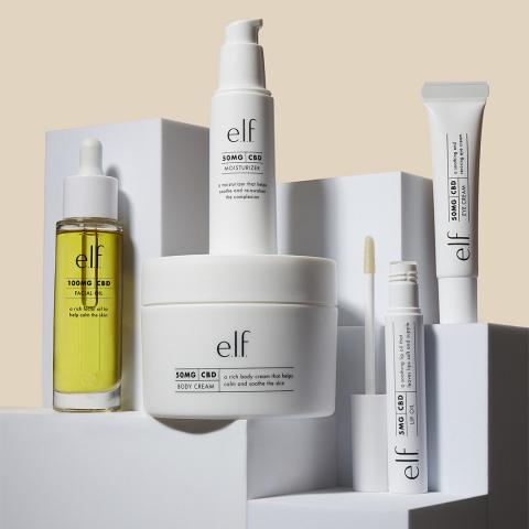 e.l.f. Beauty Unveils New CBD Skincare Collection