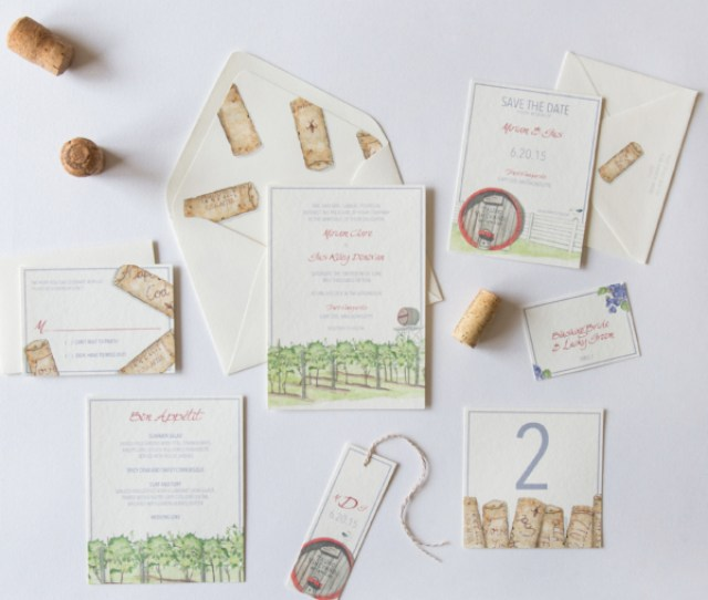 Truro Vineyard Winery Wedding Invitation Save The Date