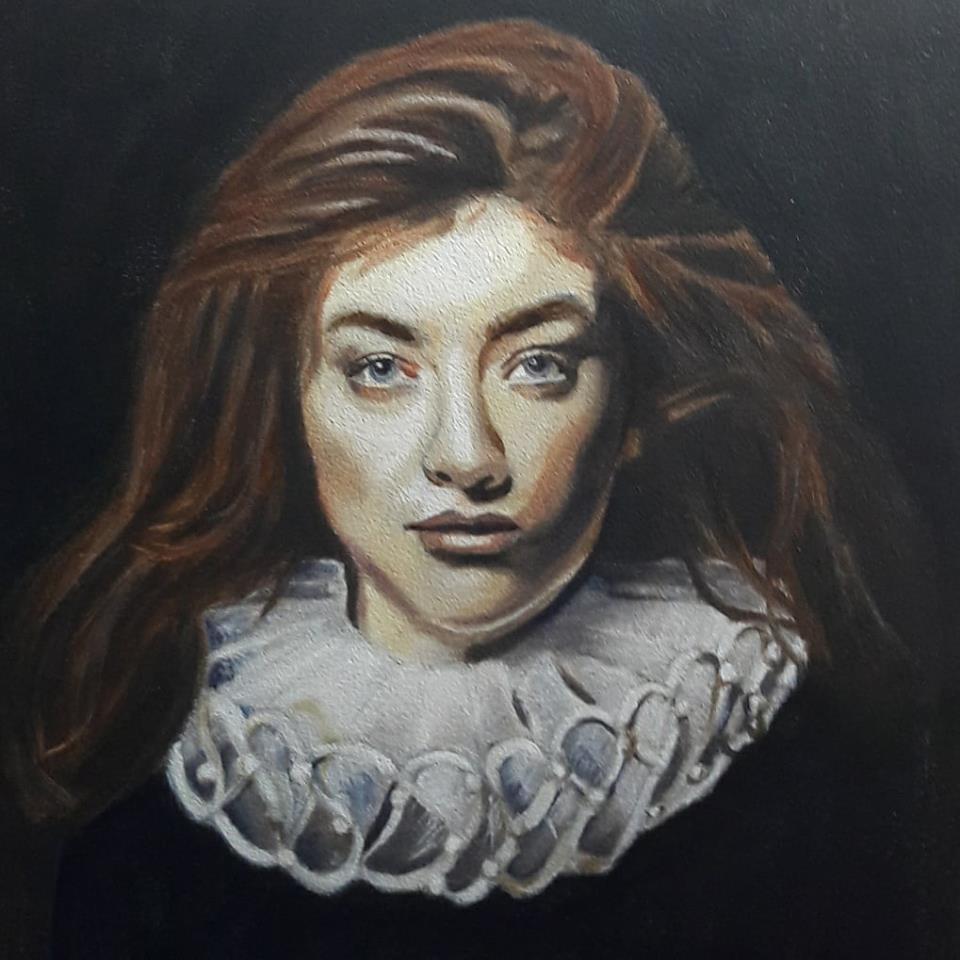 Schilderij zangeres Lorde.
