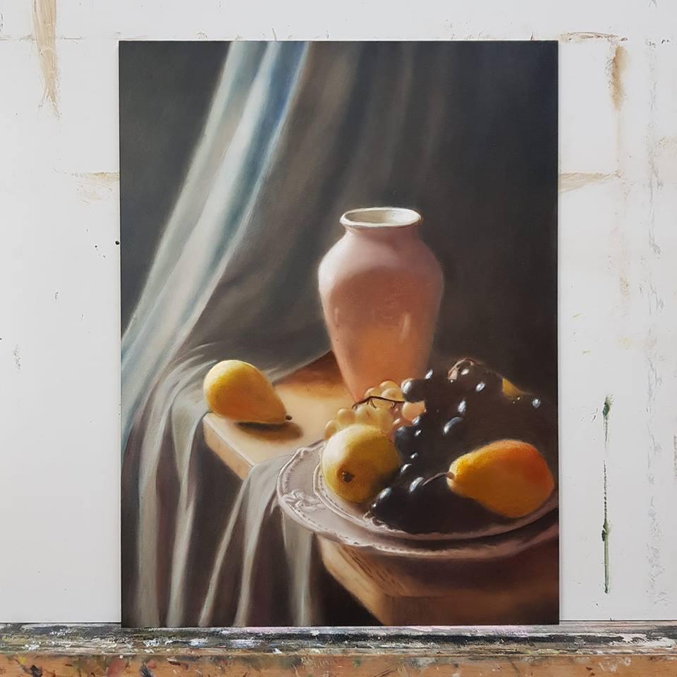 Stilleven olieverf schilderij