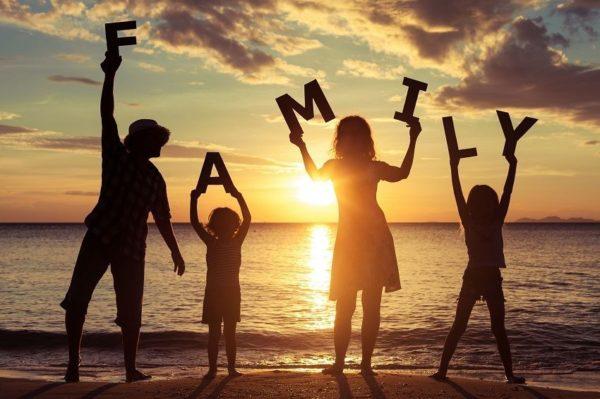 Welcoming Children family sunset image