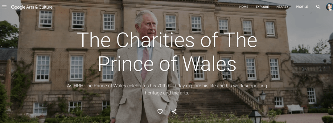 Recent work: Charities of The Prince of Wales, and LDN WMN @ Google Arts & Culture