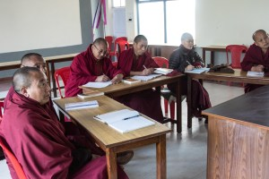 Monks and nuns in a teacher training class