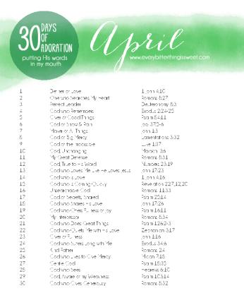 April Adoration