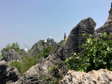Wat Chalermprakiat, hilltop temple ~ 70 km north of Lampang.