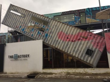 The Factory art gallery and coworking place near our apartment in the expat neighborhood.