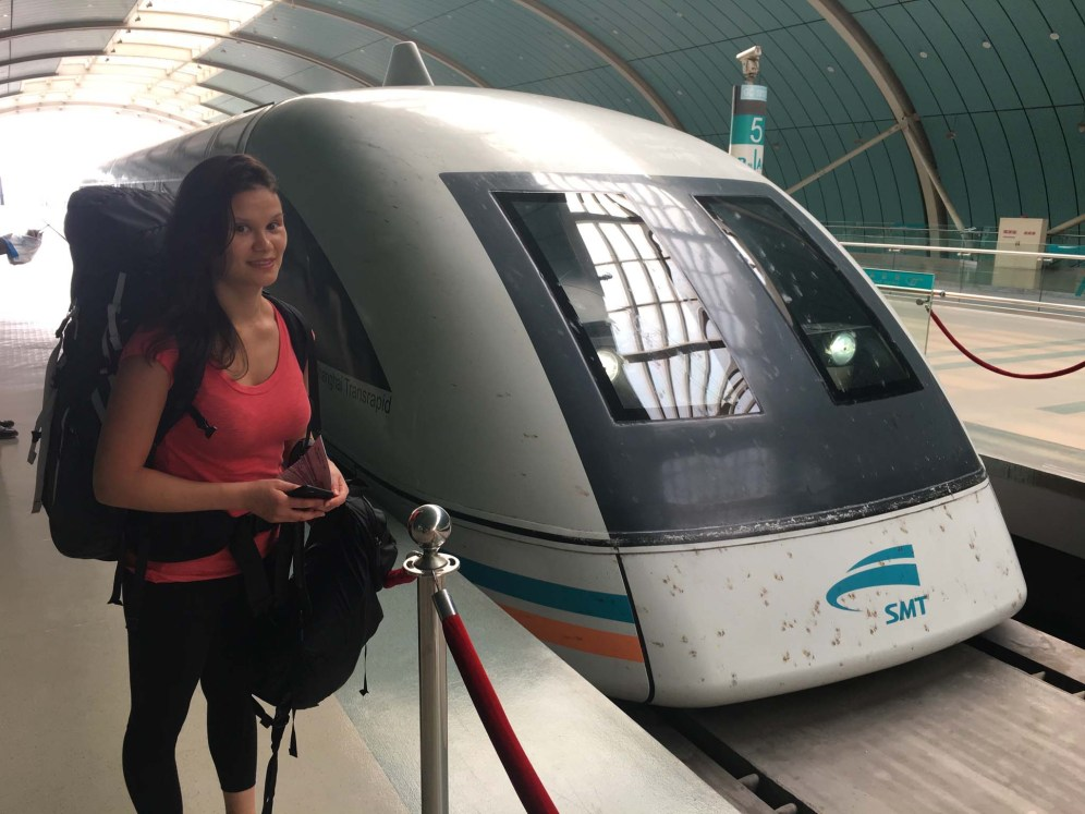 Maglev train we took from the Shanghai airport. Travelled at 430 km/hr.