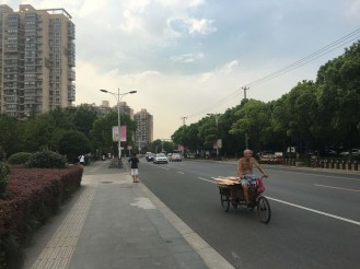 Suburb north of Shanghai. We received many inquisitive looks.