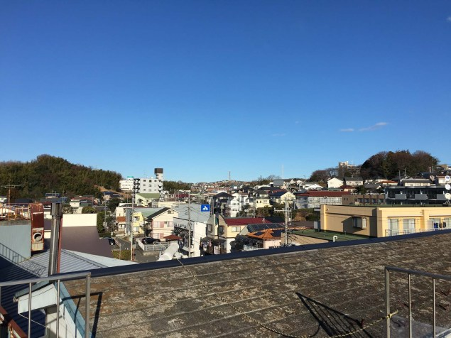View from our Yokohama apartment rooftop