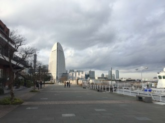 Downtown Yokohama by the piers