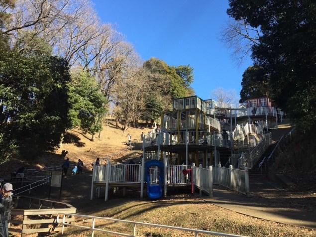 Public playground near our Yokohama apartment, it was hard to break Sarah away