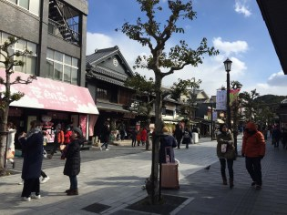 Small walking street near the Dazaifu Shrine.