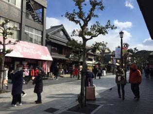 Small walking street near the Dazaifu Shrine.