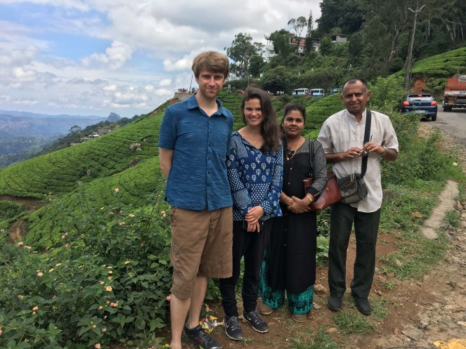 Side of the road overlooking the tea plantations.