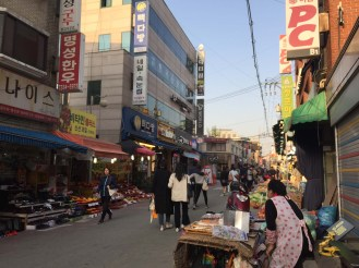 A market just down the street from us - seemingly endless.
