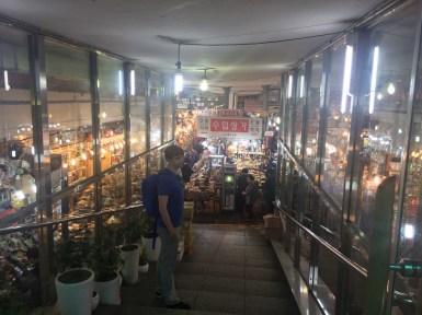 Underground spice mall.
