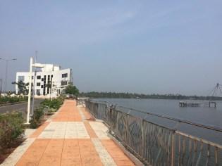Walk along the backwaters, more Chinese fishing nets.