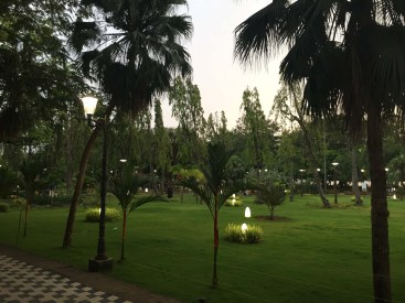 A serene park amidst the chaos of downtown Kochi.