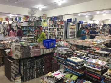 Amazing used bookstore - downtown Bangalore.